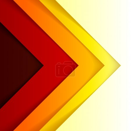 Abstract red and orange triangle shapes