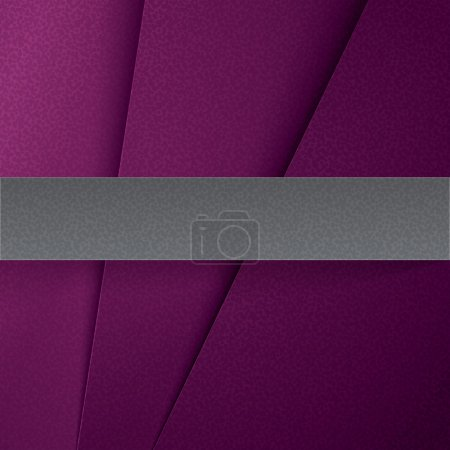 Abstract purple paper layers background