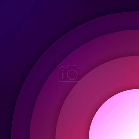 Abstract purple round shapes background