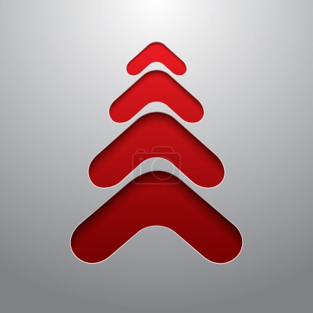 Red techno 3d christmas tree