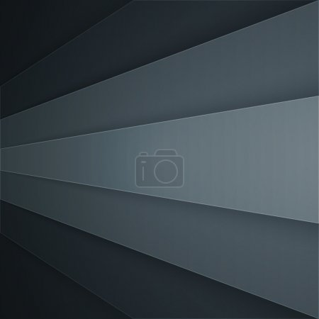 Photo for Dark grey paper layers abstract background. - Royalty Free Image