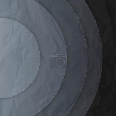 Photo pour Abstrait papier gris foncé cercles fond . - image libre de droit