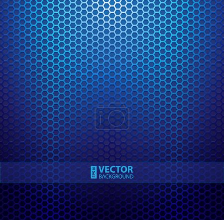 Illustration for Blue metallic grid background. RGB EPS 10 vector illustration - Royalty Free Image