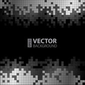 Abstract digital background with grayscale pixels equalizer