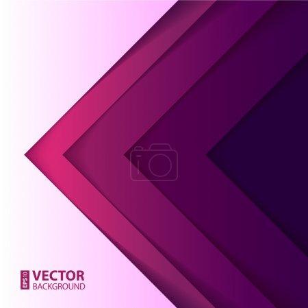 Illustration pour Résumé violet et violet triangle formes fond. Illustration vectorielle RGB EPS 10 - image libre de droit