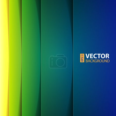Illustration for Abstract yellow, green and blue rectangle shapes background. RGB EPS 10 vector illustration - Royalty Free Image