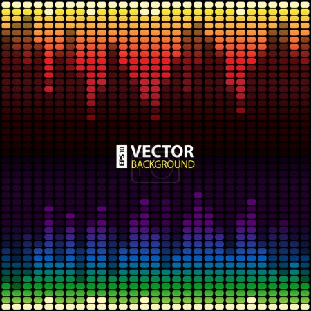 Rainbow digital equalizer vector background...