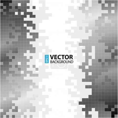 Abstract digital background with greyscale pixels equalizer.