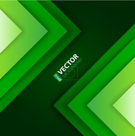 Illustration for Abstract green triangle shapes background. RGB EPS 10 vector illustration - Royalty Free Image