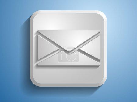 3d illustration of letter icon