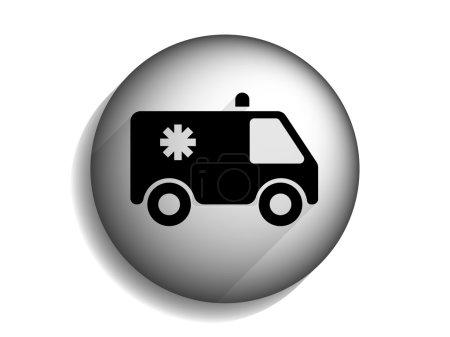 Photo pour Plat long ombre icône d'ambulance - image libre de droit