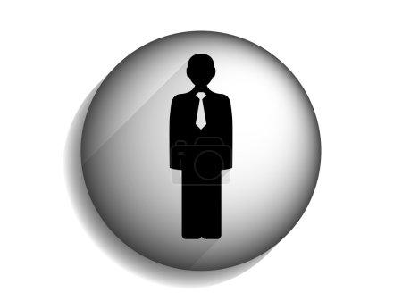 Photo pour Icône longue ombre plate de l'homme d'affaires - image libre de droit