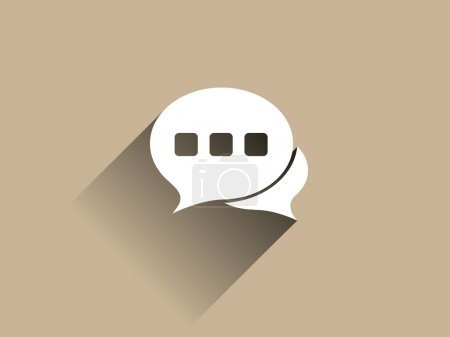 Photo for Flat long shadow icon of a communication - Royalty Free Image
