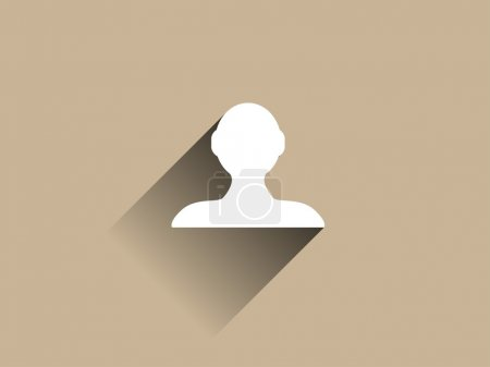 Photo for Flat long shadow icon of businessman - Royalty Free Image