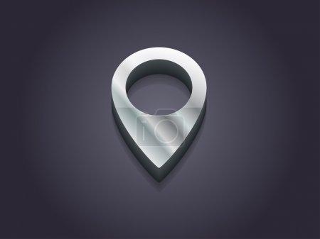 Photo pour Illustration 3D de l'icône de marque - image libre de droit