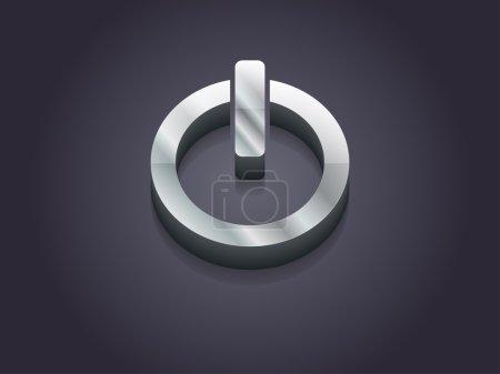 Foto de Ilustración 3d de un icono de poder - Imagen libre de derechos
