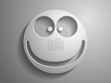 Illustration for Smile 3d vector icon - Royalty Free Image