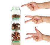 Start saving today - it is easy as one two three