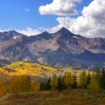 Scenic landscape of rocky mountains in Colorado...