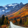 Scenic million dollar highway between Ourey and Si...