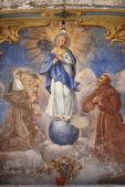 Ancient fresco of the Virgin Mary