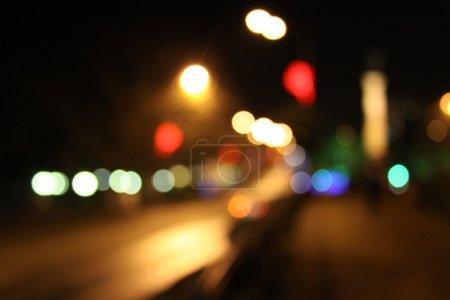 Photo pour Night city abstrait fond bokeh - image libre de droit