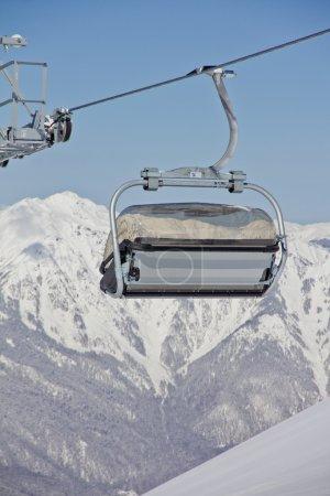 Chairlift in a ski resort ( Sochi, Russia )