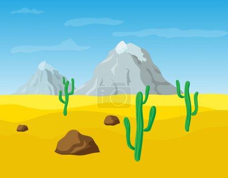 Desert sand landscape, vector illustration...