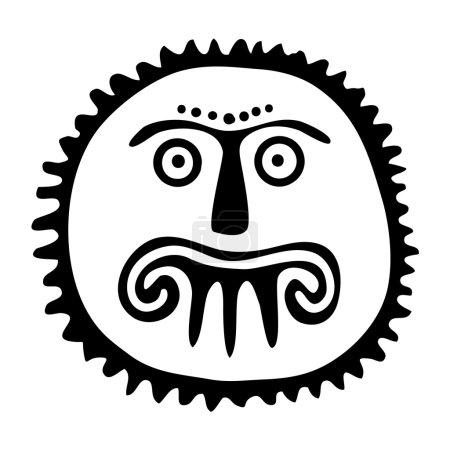 Sun tattoo illustration