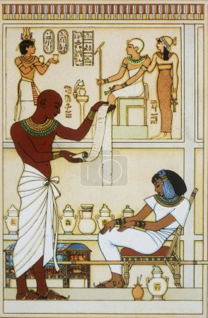 Photo pour Illustration de l'Égypte antique - image libre de droit