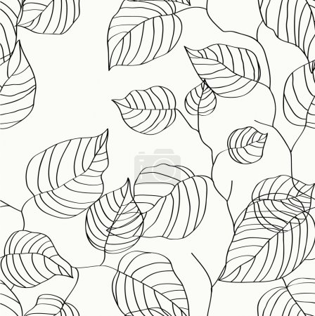 Illustration for Wallpaper with leaves Seamless pattern - Royalty Free Image