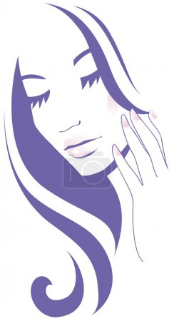 Illustration for Woman Face care - Royalty Free Image