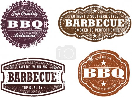 Vintage Style Barbecue Stamps