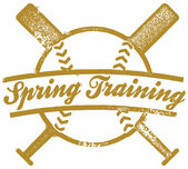 Vintage style spring training baseball or softball stamp