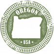 Vintage style stamp featuring the US state of Oreg...