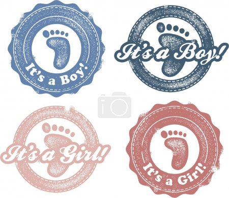 It's a boy-girl newborn baby stamp