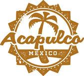 Acapulco Mexico Vacation Stamp