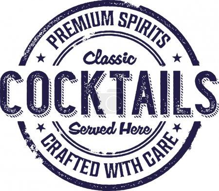 Illustration pour Signe de bar à cocktails vintage classique - image libre de droit