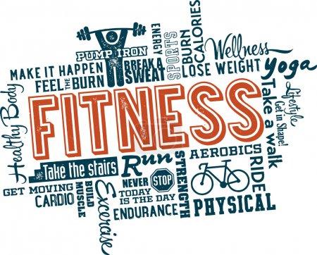 remise en forme et l'exercice sain mot