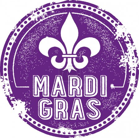 Mardi Gras Celebration Stamp