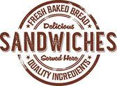 Deli Sandwiches Rubber Stamp