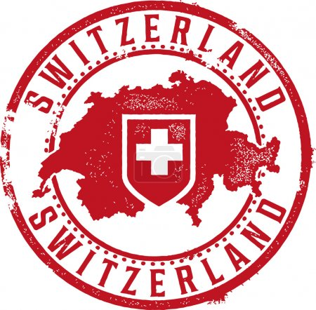 Switzerland Rubber Stamp