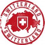 Switzerland European Country Rubber Stamp...