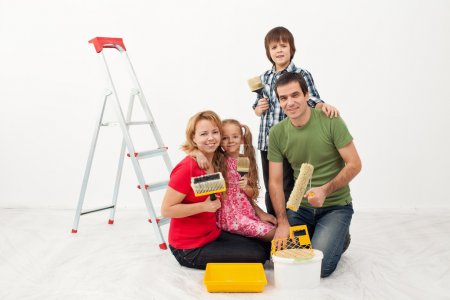 Happy preparing to paint their home
