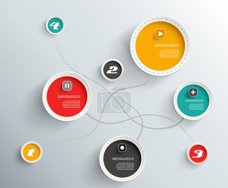 Illustration for Info graphic circles with place for your text. - Royalty Free Image