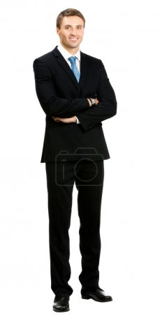 Full body of businessman, isolated over white