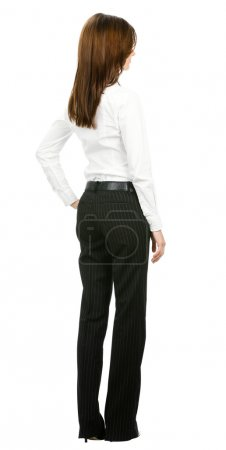 Business woman from the back, isolated
