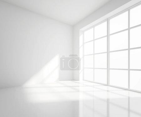 Photo for High resolution white room with window - Royalty Free Image
