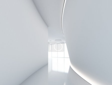 Photo for Empty big white morern room with window - Royalty Free Image
