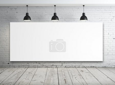 Photo for Poster in room with ceiling lamp - Royalty Free Image